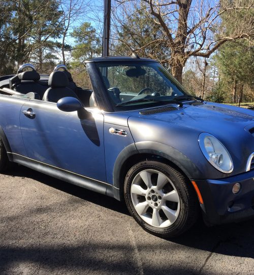 Mini cooper S supercharged manual convertible